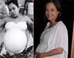Απίστευτο: Η εγκυμονούσα Κατερίνα Τσάβαλου έφτιαξε... το καλούπι της φουσκωμένης κοιλιάς της λίγο πριν γεννήσει!