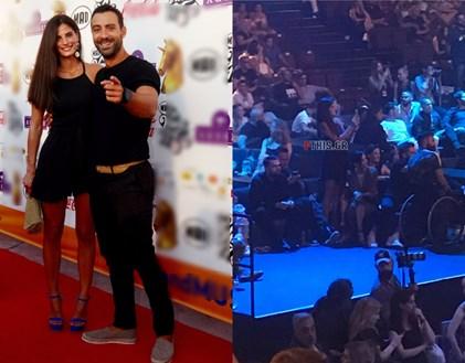 <span class=exclusivetitle3>Δείτε τι έκανε η Χριστίνα Μπόμπα όταν ο Σάκης Τανιμανίδης έδινε βραβείο στα MAD VMA 2017</span>