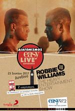 Let Robbie entertain you! Πάρτε μέρος στον διαγωνισμό του Easy 97,2 και κερδίστε!