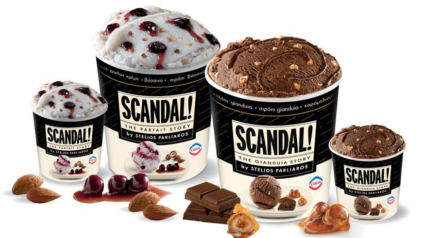Αυτά, είναι τα νέα παγωτά SCANDAL από τον Στέλιο Παρλιάρο!