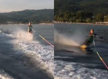 Φαίη Σκορδά: Δείτε την επική τούμπα της, κατά τη διάρκεια του θαλάσσιου σκι!