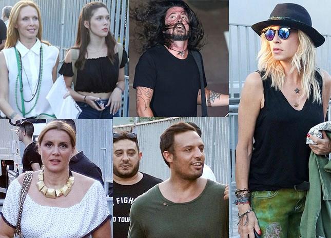 Paparazzi! Διάσημες παρουσίες στη συναυλία των Foo Fighters στο Ηρώδειο!