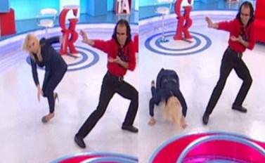 Ατύχημα για την Αννίτα Πάνια on air: Παραπάτησε και έπεσε!