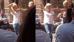 Απίστευτο! Η Ελένη Μενεγάκη χόρεψε τσιφτετέλι στο κέντρο της Αθήνας!