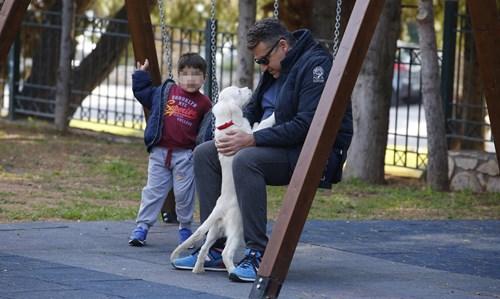 <span class=categorySpan colorGreen>Kids/</span>Paparazzi! Ο Γιώργος Λιάγκας στην παιδική χαρά με τον μικρότερο γιο του, Δημήτρη!