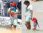 Paparazzi! Μάκης Παντζόπουλος: Βόλτα με τη μικρή Μαρινούλα στην παραλία!